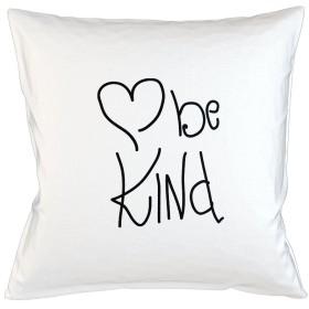 Be Kind Heart Cute Positive Happy Sofa ベッドホームデコールクッション 枕カバー・ピローケース 白