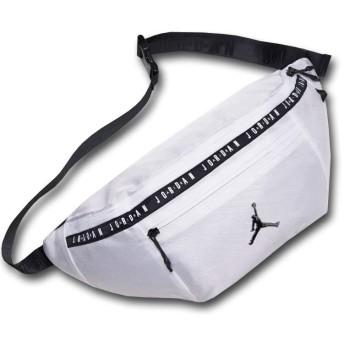 (Jordan)ジョーダン Oversized Jumpman Crossbody Bag 特大ボディバッグ (白黒) [並行輸入品]