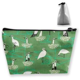 海鳥 収納ポーチ 化粧ポーチ トラベルポーチ 小物入れ 小財布 防水 大容量 旅行 おしゃれ
