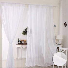 Seacan ミラーレースカーテン オシャレ 目隠し 薄い 透け感良い 明るく 装飾ホーム 仕切り 夜も透けにくい 猛暑対策 リビングルーム 薄手 紗 ベランダ 取り外し簡単 1組2枚入り (140230cm, ホワイト)