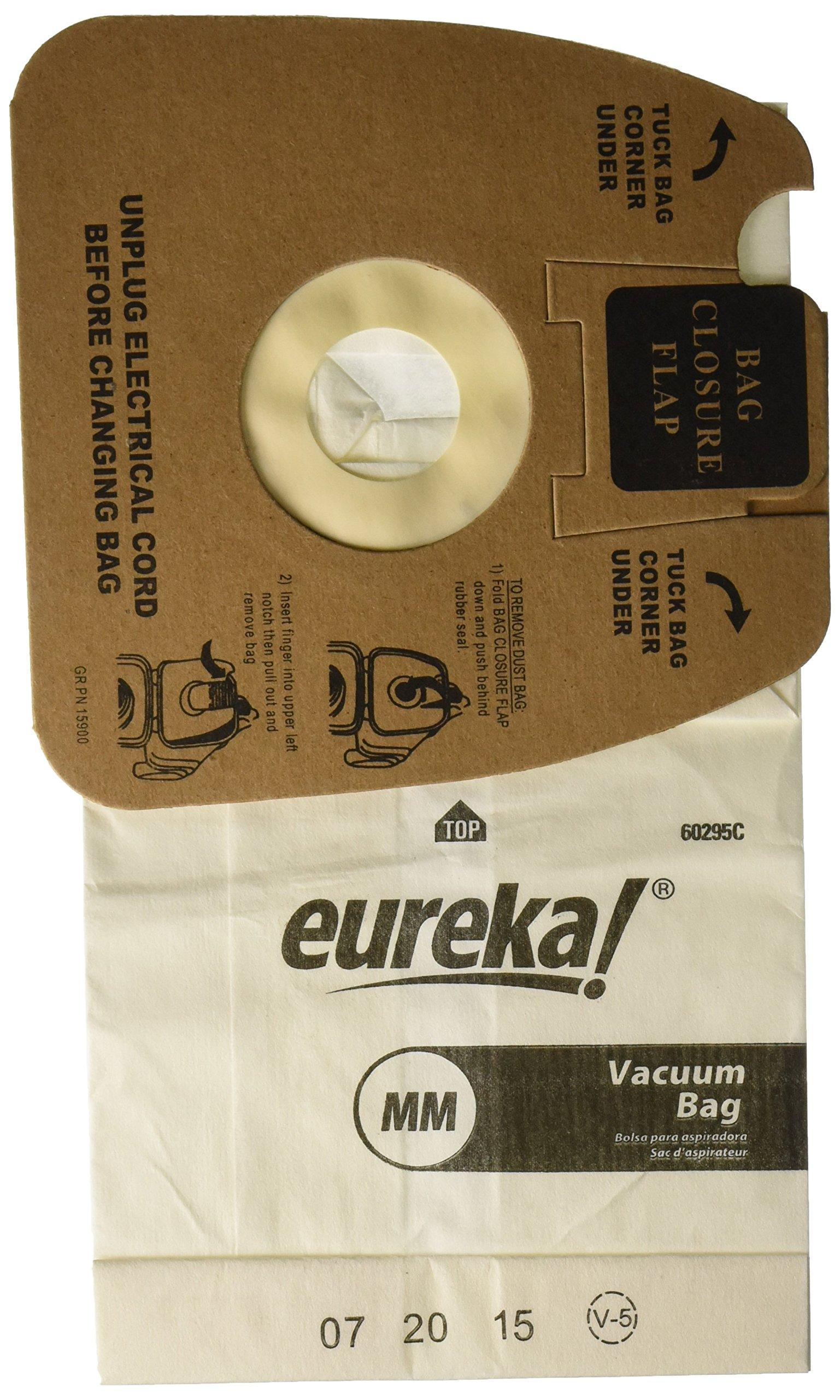 GENUINE EUREKA TYPE MM--3 PACK VACUUM CLEANER BAGS--60295C