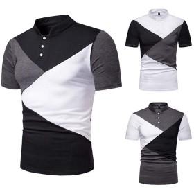 TAALESET 夏のメンズルーズ大サイズ半袖カジュアル半袖TシャツゴルフテニスTシャツ (色 : 黒, サイズ : XL)