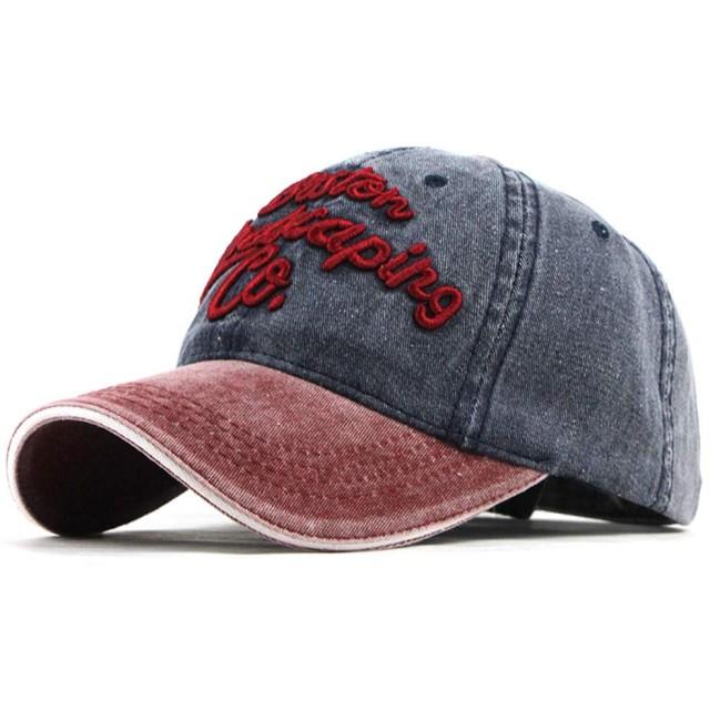 レディースメンズキャップ 帽子 男女兼用英字野球帽ハット シンプル 野球帽 日除け uvカット 5色入 (ネイビー)