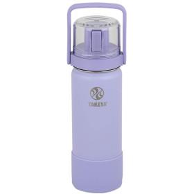 TAKEYA(タケヤ) タケヤフラスクGoCup(ゴーカップ) 水筒 ステンレスボトル 直飲み 保冷 お受験 コップ付き (ソフトパープル, 520ml, 0.52L)