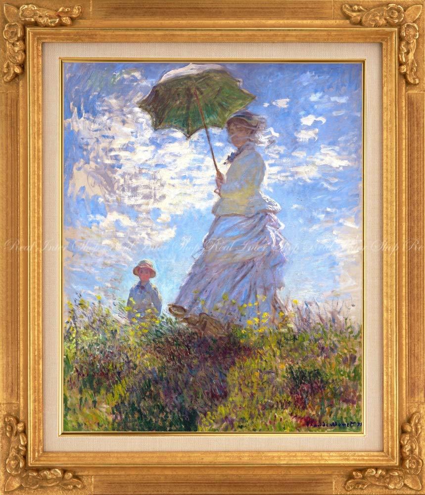 絵画風 壁紙ポスター はがせるシール式 クロード モネ 散歩 日傘を