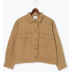 【6,000円(税込)以上のお買物で全国送料無料。】綿ツイルミリタリージャケット