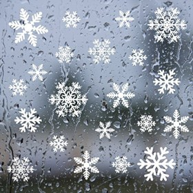 Shxstore Winter White Snowflakes Window Clings Decals Stickers, Snowflake Decorations Ornaments