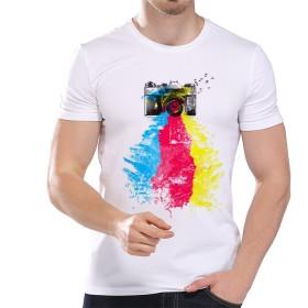 メンズ レディース tシャツ 面白 tシャツ おしゃれ 半袖 プリントtシャツ おもしろ 春夏着服 吸水速乾 自転車 メンズtシャツ ホワイトシャツ メンズ着心地いい 快適 薄手 インナーホワイト プレゼント 大きいサイズ 友達彼氏 S-4L YOKINO (S, レッド)