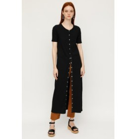 【SLY:ワンピース】FRONT BUTTON CUT MAXI OP