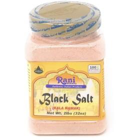 Rani Black Salt (Kala Namak) Powder, Vegan 2lb (32oz) Bulk, Unrefined, Pure and Natural | Gluten Free Ingredients | NON-GMO | Indian Origin