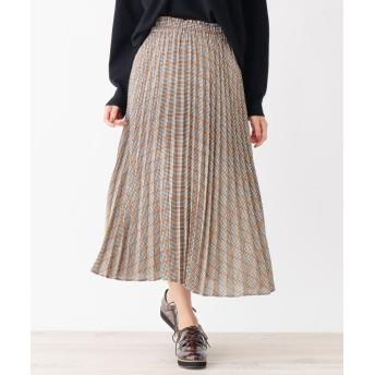 SHOO・LA・RUE/DRESKIP(シューラルー/ドレスキップ) チェックプリ-ツロングスカート