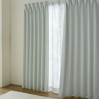 [ベルメゾン] カーテン 4枚 セット 遮光 遮熱 形状記憶 カーテン UVカット 遮熱 遮像 レースカーテン グリーン(木々) 約100×185(4枚)