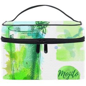 Watercolor Mojitoコスメバッグ 化粧ポーチ メイクバッグ ギフトプレゼント用 携帯可能