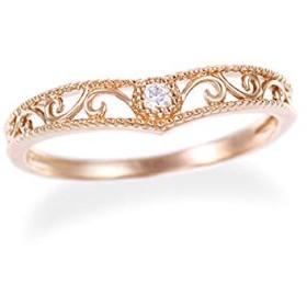 [ジュエリーツツミ]JEWELRY TSUTSUMI K10ピンクゴールドダイヤモンドリング(ピンキーリング) RFR357 2号