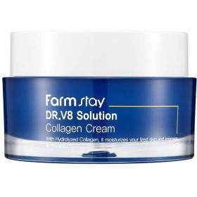 ファームステイ[Farm Stay] Dr.V8 ソリューションコラーゲンクリーム 50ml / Collagen Cream (美白&しわ防止)