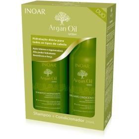 Inoar Professional - Argan Oil Shampoo & Conditioner - 250ml / 8.45oz by Inoar Professional