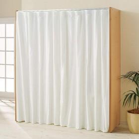 カーテン取り替え自在ハンガーラック 棚付きタイプ・幅85~125cm 708404(サイズはありません イ:ナチュラル)