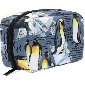ペンギン ダイヤモンド 化粧ポーチ メイクポーチ コスメポーチ 化粧品収納 小物入れ 軽い 軽量 旅行も便利 [並行輸入品]