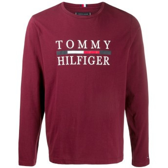 Tommy Hilfiger ロゴ Tシャツ - レッド