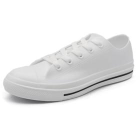 yasushoji レースアップ 長靴 雨靴 レイン ブーツ シューズ スニーカー風 雨の日 雨具 紐 (ホワイト, 38(24.0cm))