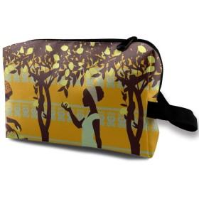 レモンツリー 少女 化粧バッグ 収納袋 女大容量 化粧品クラッチバッグ 収納 軽量 ウィンドジップ
