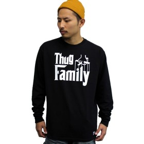3800 THUGLIFE/サグライフ 長袖Tシャツ THUGFAMILY/ブラック (L)