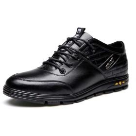 [eleitchtee] シークレットシューズ 革靴 メンズ 皮靴 ビジネス レザーシューズ 紳士 カジュアルシューズ 6CMアップ 008-jlfxy-262(26 ブラック)