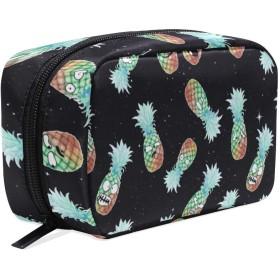 おもしろのパイナップル 化粧ポーチ メイクポーチ 機能的 大容量 化粧品収納 小物入れ 普段使い 出張 旅行 メイク ブラシ バッグ 化粧バッグ