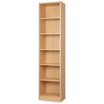 ぼん家具 本棚 薄型 ラック 棚 木製 書棚 本箱 シェルフ 収納 コミック 大容量 おしゃれ 〔幅440〕 ナチュラル