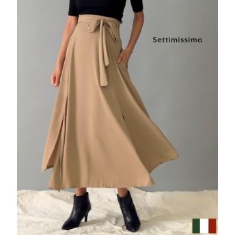 ANAP(アナップ)2スリットベルト付きフレアロングスカート