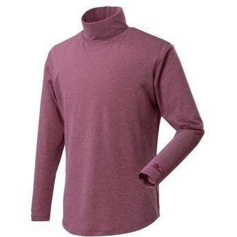 MIZUNO SHOP [ミズノ公式オンラインショップ] ブレスサーモフィーリンテックハイネックシャツ[メンズ] 63 パープルポーション C2JA9603