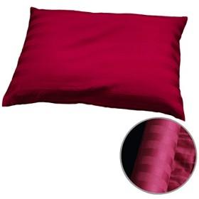 Reowide そば枕 そばがら 枕 (頚椎安定型) 35×50cm 雅 熱洗浄処理 そば殻 そばまくら [ 日本製 ] ホール型 バーガンディ