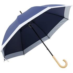 モダンデコ 日傘 晴雨兼用 遮光率100% 紫外線・UV対策 (upf50+) 84cm (ネイビー)