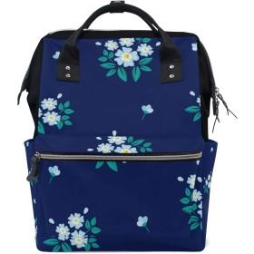 ママリュック 花柄 かわいい ミイラバッグ デイパック レディース 大容量 多機能 旅行用 看護バッグ 耐久性 防水 収納 調整可能 リュックサック 男女兼用