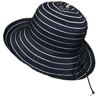 (ドウゲイ)TongYi レディース 女性用 UVカット帽子 遮光ハット ネックカバー コットン100% サイズ調節 つば広 uvカット帽子 春夏 レディース 自転車 56-58㎝ (ブラック)