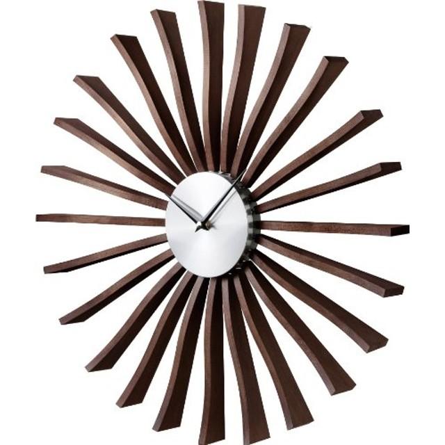 壁掛け時計 ジョージ・ネルソン フラッタークロック ウォールナット 51880000