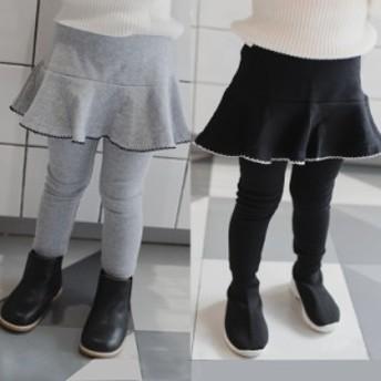 レギンスパンツ キッズ 女の子 スカート付きレギンス スパッツ フレアスカート ロングパンツ レギパン ボトムス 子ども 子供服 全店2点送