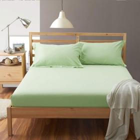 ボックスシーツ 綿100% シングル 100×200×30cm マットレスカバー ベッド用 無地 若草色