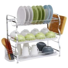 棚、台所、居間、浴室、等のための金属の台所棚ブラケットの水切りの二重収納ラック