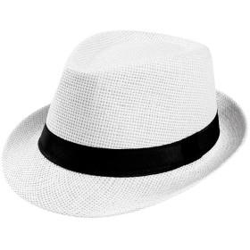 ペーパーハット レディース バイザー帽子 YOKINO コットン 麦わら帽子 レディース 取り外すあご紐 折りたたみ サイズ調節 つば広 UVカット 自転車 夏の紫外線対策 可愛い帽子 レディース つば広ハット 日よけ帽子 折り畳み 小顔効果 (ホワイト)