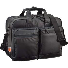 ビジネスバッグ ブリーフケース B4ファイル 2室式 ビジネス トラベルバッグ 軽量 ショルダー 2way 撥水 出張 42cm