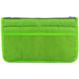 メイクバッグ Akane ファッション 糸綿 実用的 便利 レディース 收納抜群 大容量 自宅 出張 多機能 防水 収納 ハンドバッグ 化粧バッグ (6色) A0001 (グリーン)