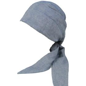 【室内帽子】オーガニックコットンバンダナキャップ ネイビー SIGN M-LABEL サイン NOC認定商品