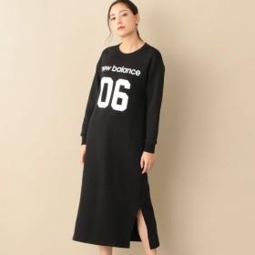 【ル ジュール(LE JOUR)】 【NEW BALANCE】マキシレングススウェットドレス 【NEW BALANCE】マキシレングススウェットドレス ブラック