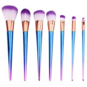1でMHKBD-JPグラデーションメイクブラシセットツールメイクアップトイレタリーキット繊維化粧ブラシ7 化粧筆 (色 : A4)
