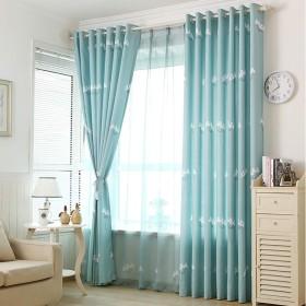 カーテン窓カーテンガーゼベッドルーム陰干し布プリーツブラインド遮光カーテン、リビングルームバルコニー寝室装飾窓 (色 : B2, サイズ さいず : 1W2.0H2M)