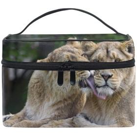 ライオンメイクボックス コスメ収納 トラベルバッグ 化粧 バッグ 高品質