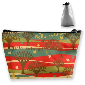 こんにちは秋の模様 収納ポーチ 化粧ポーチ トラベルポーチ 小物入れ 小財布 防水 大容量 旅行 おしゃれ