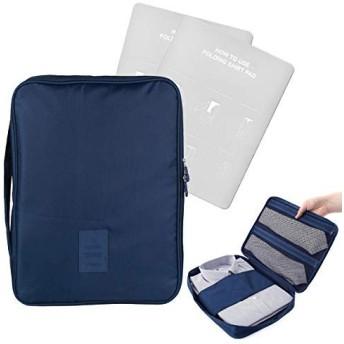 EQLEF®しわ防止シャツとネクタイ収納バッグトラベルパッキングビジネス旅行用ハンドル付きポータブルシャツオーガナイザー