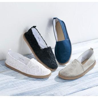 【格安-女性靴】レディース超軽量ジュート風カジュアルシューズ